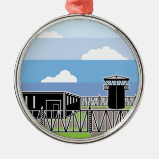 Secure Facility Prison Camp Metal Ornament