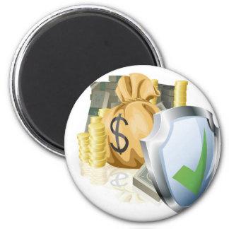 Secure money concept magnets
