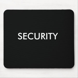 SECURITY black/white Mouse Pad