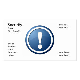 Security Business Card Template