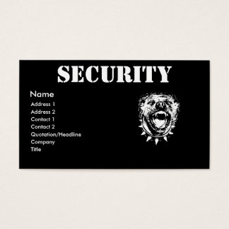 Security Business Profile Card