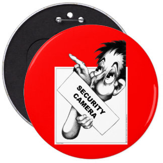 Security Camera 6 Cm Round Badge