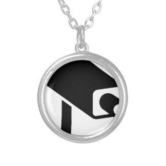 Security Camera Silver Plated Necklace