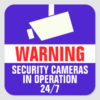 Security Camera Warning Stickers