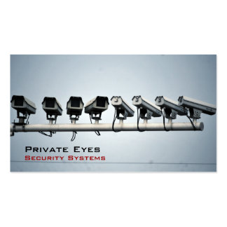 Security Cameras Pack Of Standard Business Cards