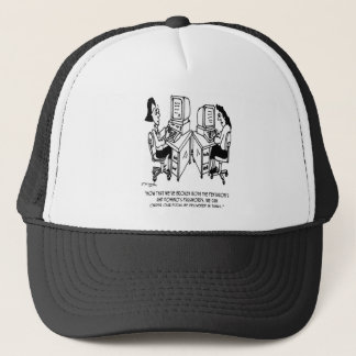 Security Cartoon 4348 Trucker Hat