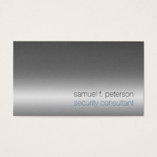 Security Consultant Special Services Chrome Silver Business Card