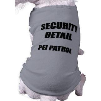Security Detail  Pei Patrol Sleeveless Dog Shirt