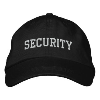 Security Embroidered Hat