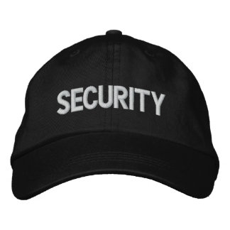 Security Embroidered Hats