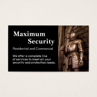 Security Firm Business Card
