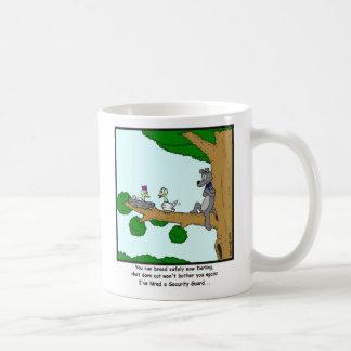 Security Guard: Bird, Cat and Dog cartoon Coffee Mug