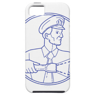 Security Guard Flashlight Circle Mono Line iPhone 5 Covers