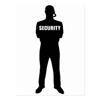 Security guard postcard