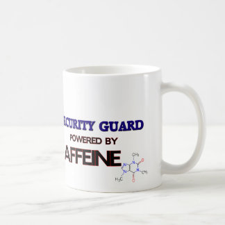 Security Guard Powered by caffeine Coffee Mug