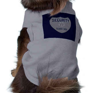 Security Guard Sleeveless Dog Shirt