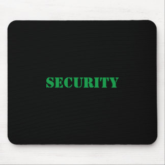 Security Mousepad-Green Font Mouse Pad