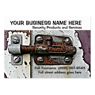 Security or Safety Services Rusty Lock Bolt Pack Of Chubby Business Cards