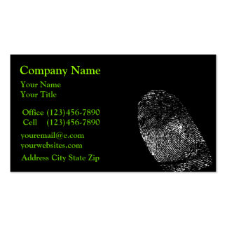 Security Protection Business Cards
