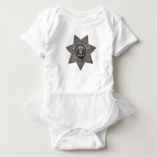 Security Special Officer Silver Baby Bodysuit