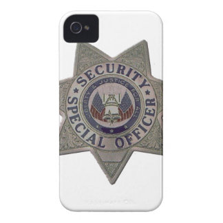 Security Special Officer Silver iPhone 4 Case