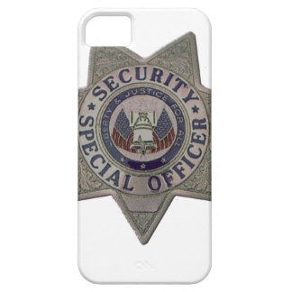 Security Special Officer Silver iPhone 5 Covers