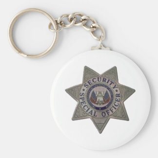 Security Special Officer Silver Key Ring