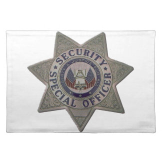 Security Special Officer Silver Placemat