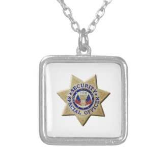 Security Special Officer Silver Plated Necklace