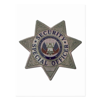 Security Special Officer Silver Postcard