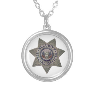 Security Special Officer Silver Silver Plated Necklace