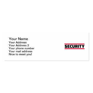 Security team business card templates