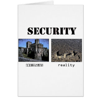 Security - Theory and Reality Card