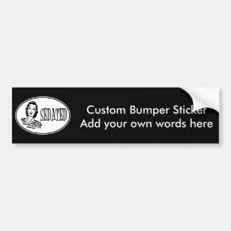 Sedated Retro Housewife Car Bumper Sticker