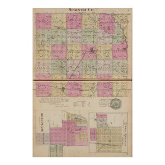 Sedgwick County, Conway and Belle Plaine, Kansas Poster