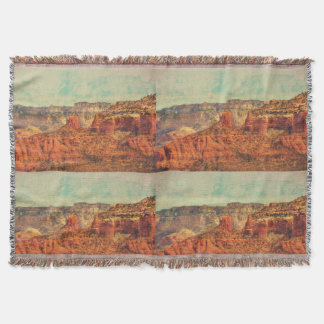 Sedona In Grunge Throw Blanket