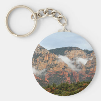Sedona mountain with clouds key chains