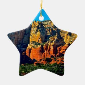 Sedona Mountains Ceramic Ornament