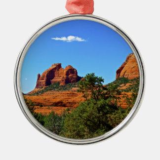 Sedona Mountains Metal Ornament