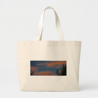 Sedona skies Sunset blue pink clouds Canvas Bags