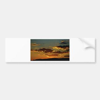 Sedona skies Sunset Bumper Sticker