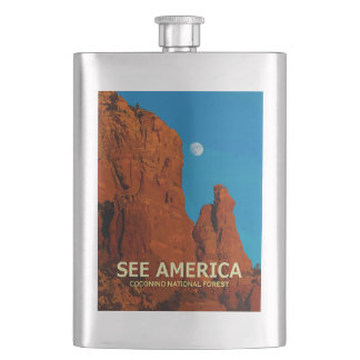 """See America"" Coconino National Forest Flask"