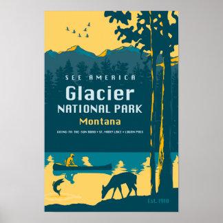 See America - Glacier National Park Travel Poster