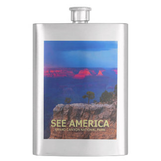 """See America"" Grand Canyon National Park Flask"