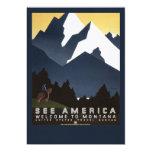 See America-Montana 13 Cm X 18 Cm Invitation Card