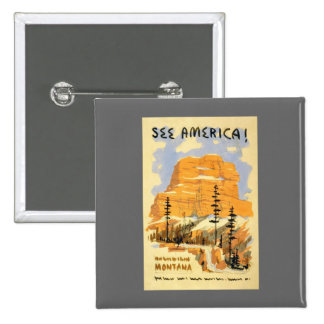 See America Montana Button