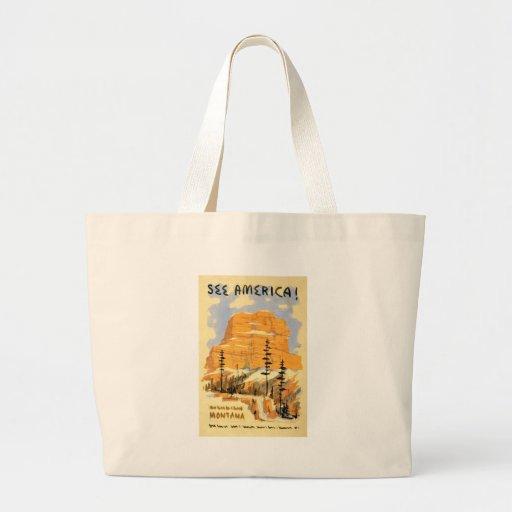 See America Montana Tote Bags