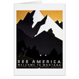 See America Welcome to Montana Card