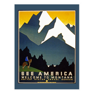 See America - Welcome to Montana Postcard