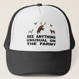 See Anything Unusual On The Farm? Trucker Hat